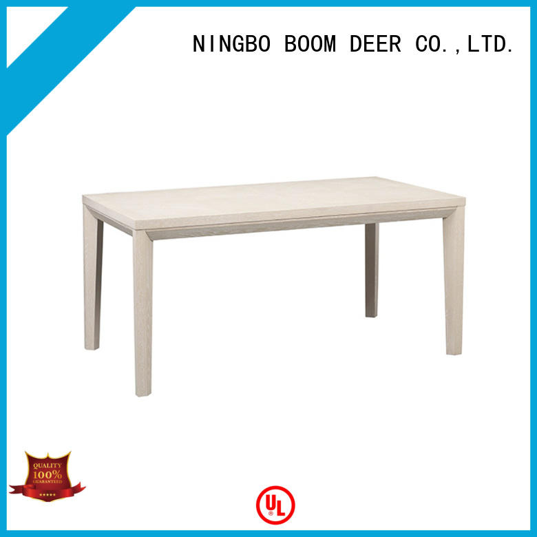 BoomDear Wood tufted white oak coffee table buy now for dining room